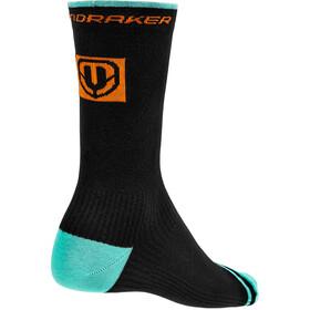 Mondraker Racing Chaussettes hautes Homme, black/orange/mint
